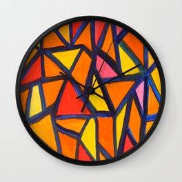 Striking Abstract Pattern Wall Clock