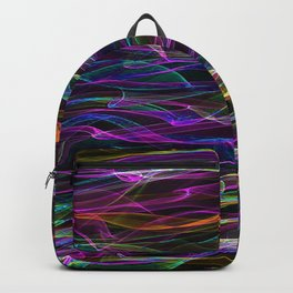 Neon Waves of Color Backpack