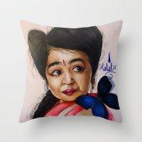 ahs Throw Pillows featuring Ma Petite-AHS by MELCHOMM