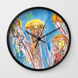 Jellyfish Friends Wall Clock