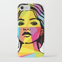 fashion illustration geometric art  iPhone Case