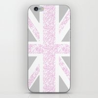 union jack iPhone & iPod Skins featuring Union Jack by Illusive Print