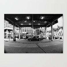 Taaaxi! [Black & White] Canvas Print
