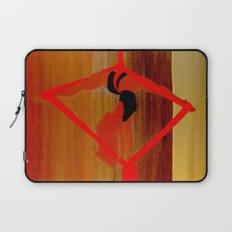 Bright Ribbon on a Fine Grain Laptop Sleeve