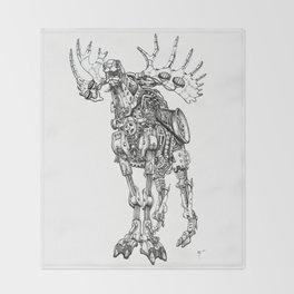 Motor Moose Throw Blanket