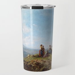 Carl Spitzweg Girls on a Pasture Travel Mug