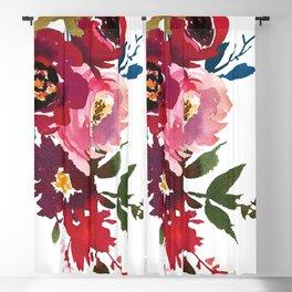 Falling Flowers Blackout Curtain