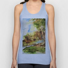 edge of the forest Unisex Tank Top