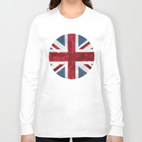 union jack Long Sleeve T-shirts featuring Union Jack by Renato Verzaro