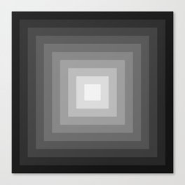 black and white tunnel Canvas Print
