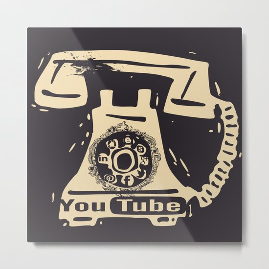Little things retro - Social Network Metal Print