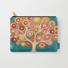 Tree of life with colorful abstract circles Carry-All Pouch