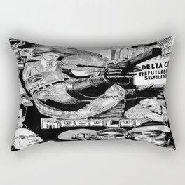 'Robocop 1987' Retro Style Movie Poster Rectangular Pillow