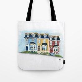 Jellybean Row - Newfoundland houses, buildings Tote Bag