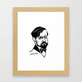 Claude Debussy Framed Art Print