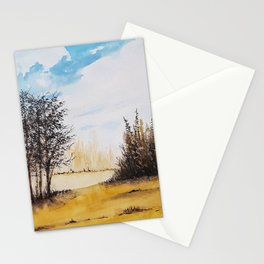 Across the Field Stationery Cards