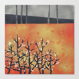 Blackthorn Landscape Canvas Print