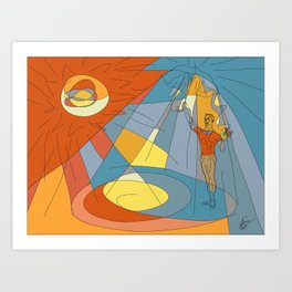 The Contradicting Moods Art Print