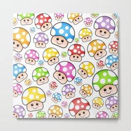 Iddy Diddy Mushrooms  Metal Print