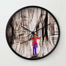 the tree and her girlfriend Wall Clock