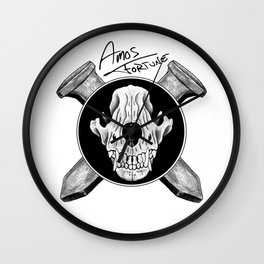 Amos Fortune Logo Wall Clock