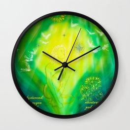 Zodiac sign Virgo 3 Wall Clock