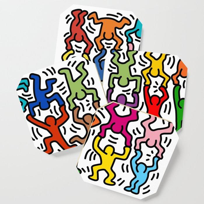 Homage to Keith Haring Acrobats II Coaster