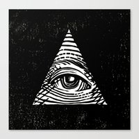 illuminati Canvas Prints featuring Illuminati by Jenny Joleen