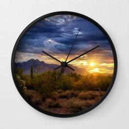 A Sonoran Desert Sunrise Wall Clock