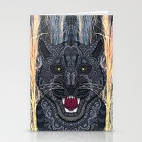 panther Stationery Cards featuring Panther by ArtLovePassion