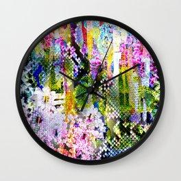 snake flowers Wall Clock