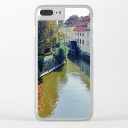 Watermill on Vltava River Clear iPhone Case