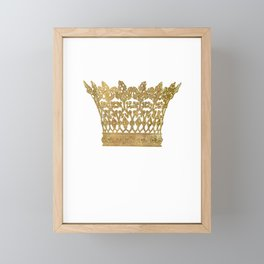 Crown Framed Mini Art Print