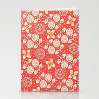 death cab for cutie Stationery Cards featuring Cutie by Pink Berry Patterns