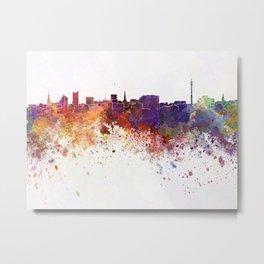 Dortmund skyline in watercolor background Metal Print