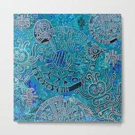 Aztec blues Metal Print