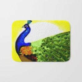 Peacock ~ Jennifer's Art Design. Bath Mat