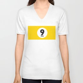 9 ball yellow Unisex V-Neck