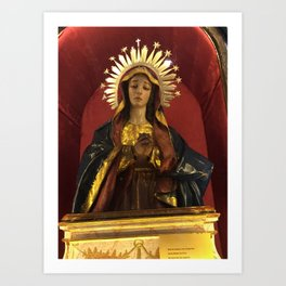 Mary Help Us Art Print
