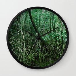 Mangroves in Green Wall Clock