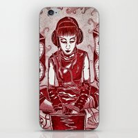 internet iPhone & iPod Skins featuring Internet Girl by Yukska