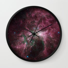 Abstract Purple Space Image Wall Clock