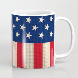 USA faux burlap flag Coffee Mug