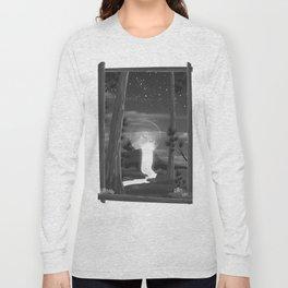 Moon waterfall Long Sleeve T-shirt