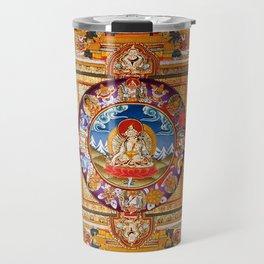 White Tara Thangka Compassion Goddess Travel Mug