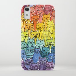 the pride cat rainbow  squad iPhone Case