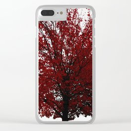 Tree on Canvas Clear iPhone Case