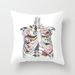 Botanatomical: Botanatomy II Throw Pillow
