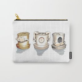 See no, Hear no, Speak no Evil ! Carry-All Pouch