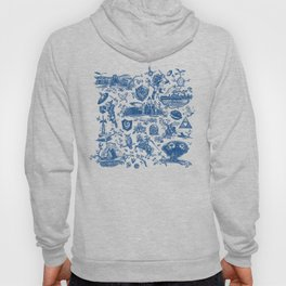 "Zelda ""Hero of Time"" Toile Pattern - Zora's Sapphire Hoody"